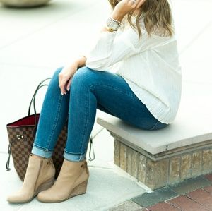 Lucky Brand Suede Wedge Boot